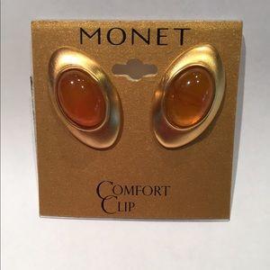 Monet Signed Vintage Earrings